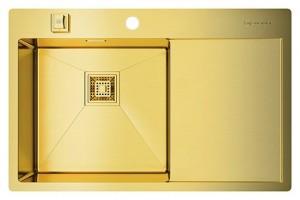 4973085 Мойка кухонная Omoikiri Akisame 78-LG-L светлое золото