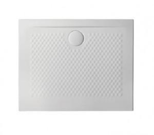 PDR017 01; 00 Поддон ArtCeram Texture 90 х 70 х 5,5 см,, прямоугольный, цвет - белый глянцевый, из искусственного камня