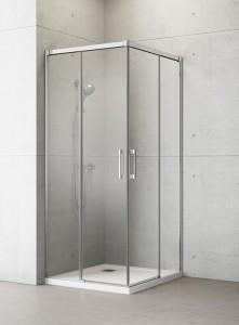 387060-01-01L/387062-01-01R Душевой уголок Radaway Idea KDD 90 x 100 см, стекло прозрачное