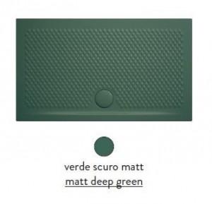 PDR019 30; 00 Поддон ArtCeram Texture 100 х 80 х 5,5 см,, прямоугольный, цвет - verde scuro matt (темно-зеленый), из искусственного камня