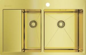 4973088 Мойка кухонная Omoikiri Akisame 78-2-LG-R светлое золото