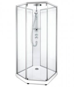 558.206.310 Душевая кабина IDO Showerama 10-5 Comfort, 80 x 90 см, стекло прозрачное, задние стенки прозрачные, профиль алюминий