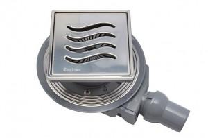 13000081 Трап водосток Pestan Confluo Standard Tide 4 Mask 150*150 нержавеющая сталь с рамкой