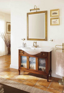 Комплект мебели Labor Legno VICTORIA Composizione H 109, орех/бронза, 105 см