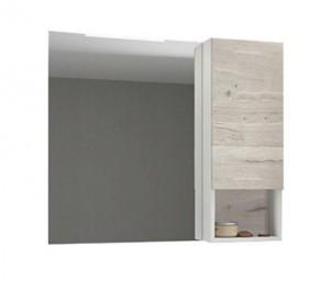 Зеркальный шкаф Comforty Ганновер 90 дуб дымчатый/белый