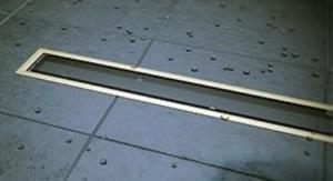 13100099 Душевой лоток Pestan Confluo Premium Gold Black Glass Line 850, решетка черное закаленное стекло-золото 24К