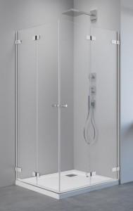 386160-03-01L/386161-03-01R Душевой уголок Radaway Arta KDD B с дверями типа Bi-fold, 90 x 80 см, стекло прозрачное