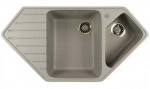 ML-GM25 (342) Кухонная мойка Mixline, врезная сверху, цвет - графит, 97 х 50.5 х 20 см