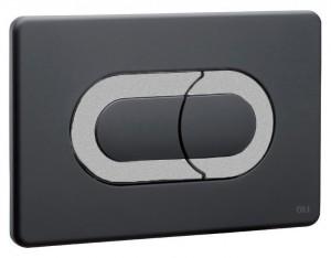 640099 Клавиша OLI Salina черный, хром матовый