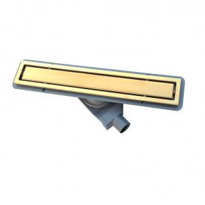 13100051 Душевой лоток Pestan Confluo Premium Gold Line 450, решетка нержавеющая сталь с золотым покрытием 24К