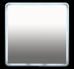 Misty 3 Неон - Зеркало LED  800х800 клавишный выключатель (с круглыми углами) П-Нео080080-3ПРКВКУ