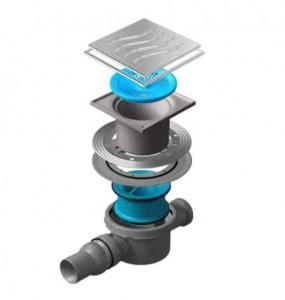 13000071 Трап водосток Pestan Confluo Standard Tide 2 Mask 150*150 мм нержавеющая сталь с рамкой