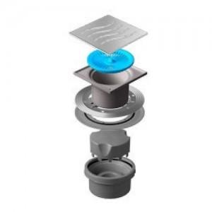 13000018 Трап водосток Pestan Confluo Standard Vertical Tide 150*150 мм нержавеющая сталь без рамки