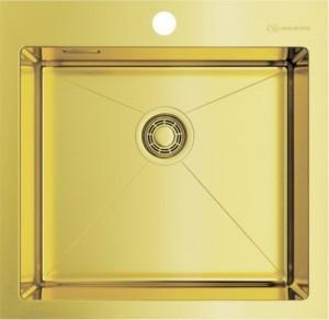 4973439 Мойка кухонная Omoikiri Akisame 51-LG светлое золото