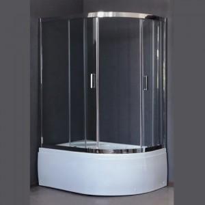 RB8120BK-T-CH-L Душевой уголок Royal Bath/R 120 х 80 x 198 см, асимметричная, стекло прозрачное, хром