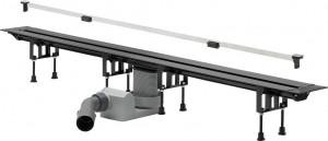 704353 Душевой лоток Viega Advantix Vario Set с щелевой вставкой, подрезной (30-120 см)