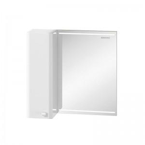 Зеркальный шкаф Edelform Nota 65, с LED-подсветкой, белый глянец