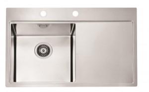 1103652 Мойка кухонная Alveus Pure 50 SAT-90 860 x 525 левая/правая