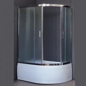 RB8120BK-C-CH-L Душевой уголок Royal Bath/R 120 х 80 x 198 см, асимметричная, стекло матовое, хром