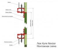 Сантехнический люк Revizor Алюклик-М ширина 60, высота 100