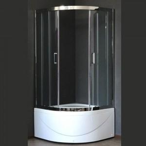 RB100BK-T-CH Душевой уголок Royal Bath 100 х 100 x 198 см четверть круга, стекло прозрачное, хром