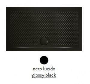 PDR022 03; 00 Поддон ArtCeram Texture 140 х 80 х 5,5 см,, прямоугольный, цвет - черный глянцевый, из искусственного камня