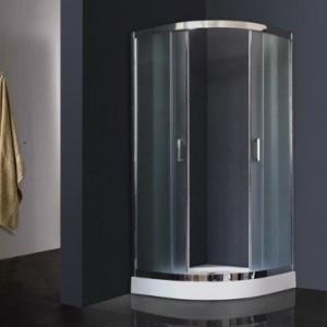 RB100HK-C-CH Душевой уголок Royal Bath 100 х 100 x 198  см четверть круга, стекло матовое, хром