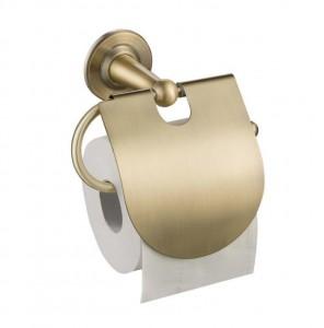 Держатель туалетной бумаги с крышкой Timo Nelson 160042/02 antique, бронза
