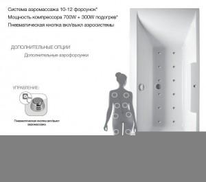 Гидромассажная система Relisan № 2 Гидромассажная система Relisan № 2 - 10 -12 форсунок, мощность помпы 1000 W, регулятор подачи воздуха в систему гидромассажа, пневматическая кнопка Вкл/Выкл, гарантия 3 года