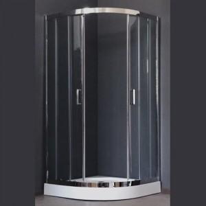 RB100HK-T-CH Душевой уголок Royal Bath 100 х 100 x 198 см четверть круга, стекло прозрачное, хром