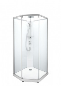Душевая кабина IDO Showerama 10-5 Comfort, 100 x 100 см, стекло прозрачное, профиль алюминий