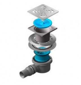13000005 Трап водосток Pestan Confluo Standard Square 1 150*150 мм нержавеющая сталь без рамки