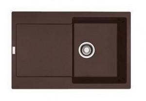 114.0198.471 Мойка Franke MARIS MRG 611,, гранит, установка сверху, оборачиваемая, цвет шоколад, 78*50 см
