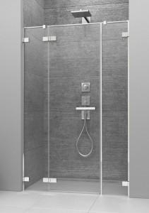 386457-03-01L/386122-03-01L Душевая дверь в нишу Radaway Arta DWJS 150 L с двумя неподвижными сегментами, стекло прозрачное