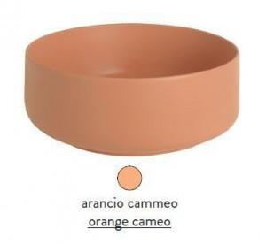 COL001 13; 00 Раковина ArtCeram Cognac Countertop, накладная, цвет - arancio cammeo (оранжевый камео), 42 х 42 х 16 см