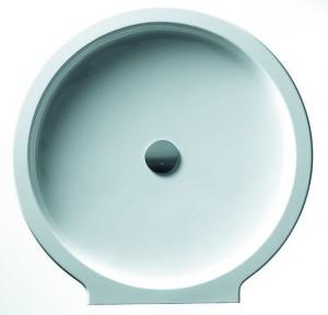 6351 Душевой поддон Hoesch PHILIPPE STARCK 98,5 x 99 x 3 см,, круглый, пристенный, из искусственного камня