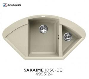 4993124 Мойка кухонная Omoikiri Sakaime 105C-BE ваниль