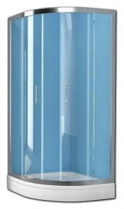 Q-LINETKP80+OCEAN80 Душевой комплект Kolpa-San Q-LINE, 80 х 80 х 190 см, стекло прозрачное