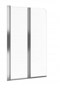 KAAX.1309.800.LE Шторка на ванну Excellent Axel 80, стекло - прозрачное, профиль - хром