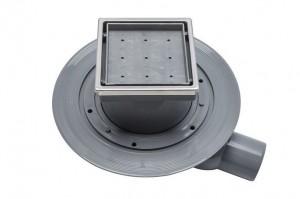 13000107 Трап водосток Pestan Confluo Standard Dry 1 Ceramic 100*100 Ceramik под плитку с рамкой сталь