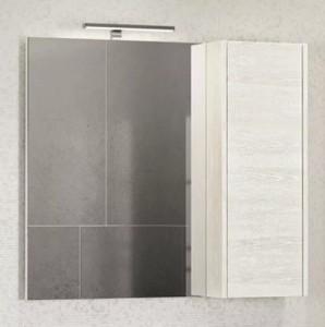 Зеркальный шкаф Comforty Бремен 90 дуб белый