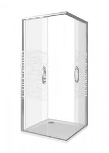 АН00014 Душевое ограждение Good Door Antares CR-100-W-CH 100 х 100 х 195 см,, стекло прозрачное, с рисунком Волна, хром