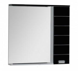 Зеркало-шкаф Aquanet Доминика 90 L Led 00171921, левый, цвет фасада черный