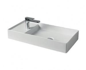 SCL004 01; 00 Раковина ArtCeram Scalino 75, накладная, цвет - белый глянцевый, 75 х 38 х 11,5 см