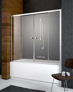 203150-01 Шторка на ванну Radaway Vesta DWD 150 прозрачное стекло