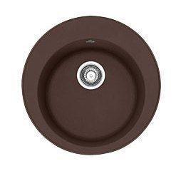 114.0263.237 Мойка Franke RONDA ROG 610-41,, гранит, установка сверху, цвет шоколад, 51*51 см