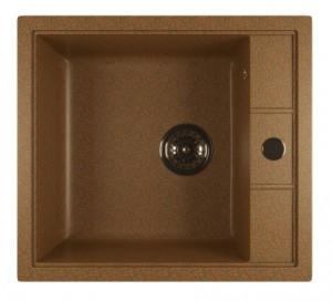 ML-GM28 (307) Кухонная мойка Mixline, врезная сверху, цвет - терракотовый, 51 х 46 х 19 см
