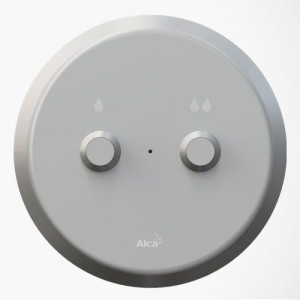MEO10 Кнопка электронного смыва на расстоянии AlcaPlast DUAL – ручное управление, металл, монтаж: в стену