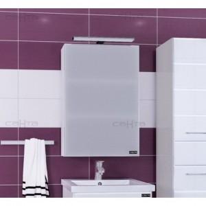 Зеркальный шкаф СаНта Стандарт 50 113015, цвет белый, с подсветкой