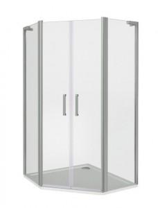 ПД00036 Душевое ограждение Good Door Pandora PNT-TD-100-C-CH 100 х 100 х 185 см,, стекло прозрачное, хром